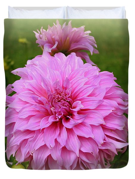 Pink Dahlia Duvet Cover by Donna Walsh