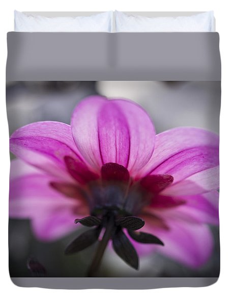 Pink Dahlia Duvet Cover by Priya Ghose