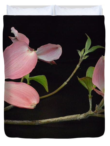 Duvet Cover featuring the photograph Pink Dogwood Branch  by Jeannie Rhode
