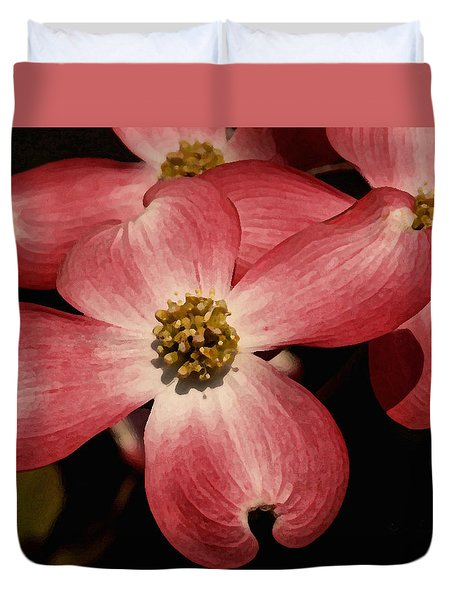 Duvet Cover featuring the photograph Pink Dogwood by James C Thomas