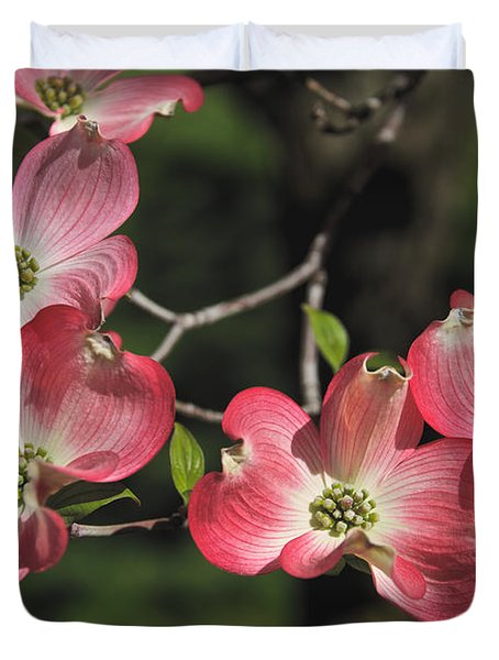 Pink Dogwood Duvet Cover