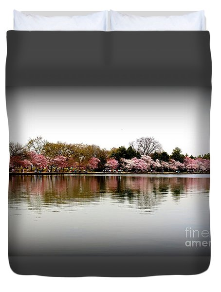 Pink Echoes Duvet Cover