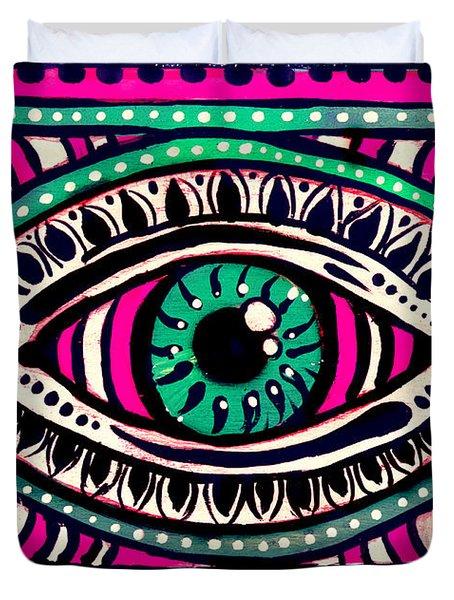 Pink Eyed Gypsi Duvet Cover