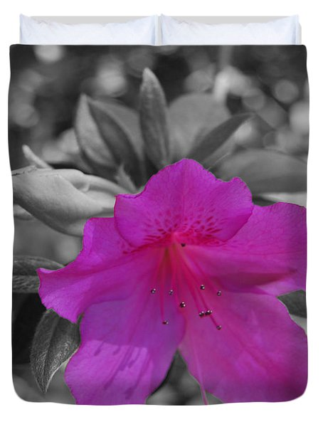 Duvet Cover featuring the photograph Pink Flower 2 by Maggy Marsh