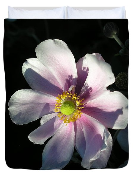 Pink Flower Duvet Cover by Bev Conover
