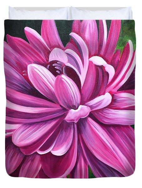Pink Flower Fluff Duvet Cover