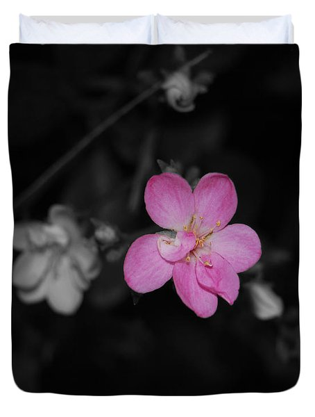 Duvet Cover featuring the photograph Pink Flower  by Maggy Marsh