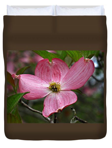 Pink Flowering Dogwood Duvet Cover