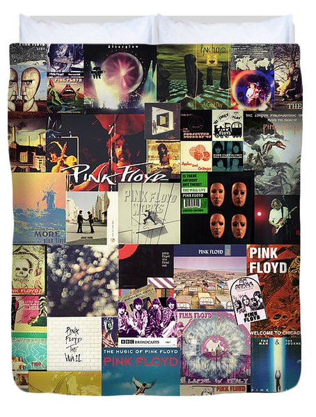 Pink Floyd Collage I Duvet Cover