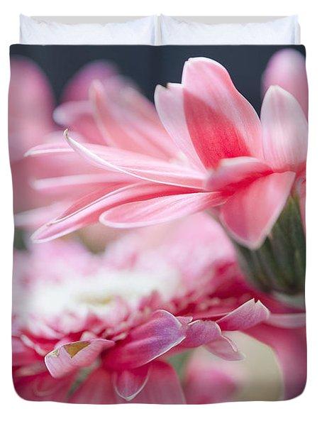 Pink Gerber Daisy - Awakening Duvet Cover by Ivy Ho