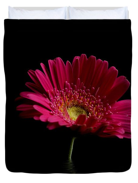Pink Gerbera Flood 1 Duvet Cover