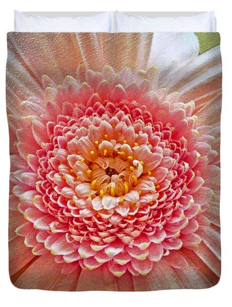 Pink Gerbera Textured Duvet Cover