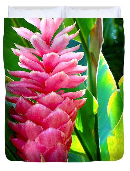 Pink Ginger Duvet Cover by Karon Melillo DeVega