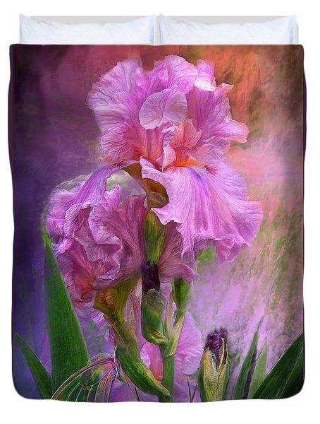 Pink Goddess Duvet Cover by Carol Cavalaris