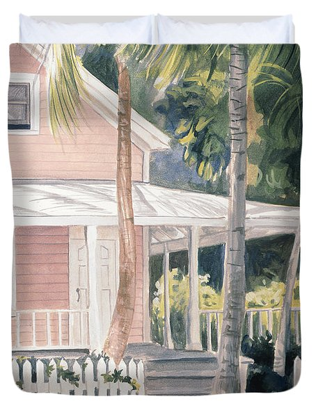 Pink House Duvet Cover