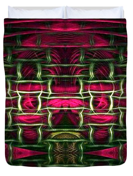 Duvet Cover featuring the painting Pink Illusion by Rafael Salazar