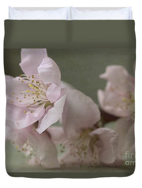 Pink Is The Color Of Happiness Duvet Cover by Linda Lees