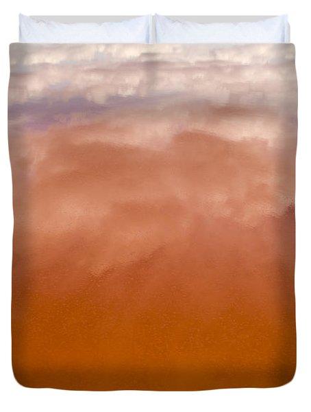 Pink Lake Duvet Cover by Tim Hester
