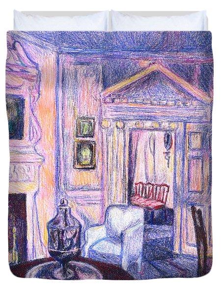 Pink Light At Mount Vernon Duvet Cover by Kendall Kessler
