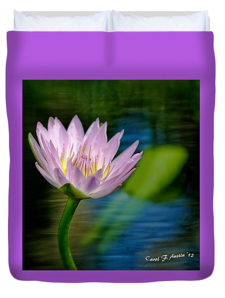 Purple Petals Lotus Flower Impressionism Duvet Cover