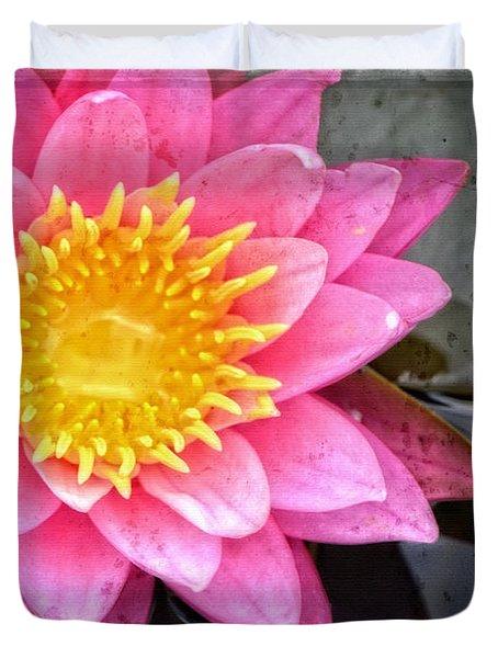 Pink Lotus Flower - Zen Art By Sharon Cummings Duvet Cover