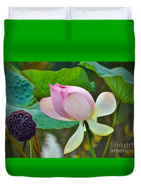 Pink Lotus Duvet Cover by Savannah Gibbs