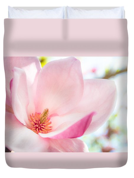 Pink Magnolia Duvet Cover by Denise Bird