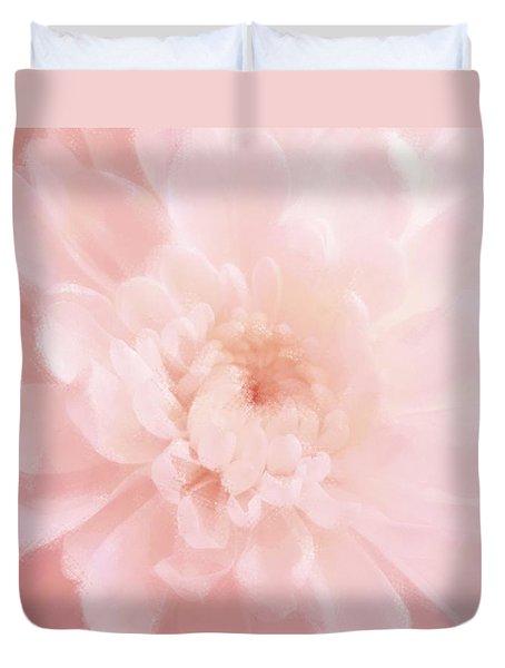 Pink Mum Luminous Painted Blossom Duvet Cover
