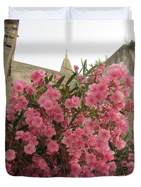 Pink Oleander Duvet Cover by Pema Hou