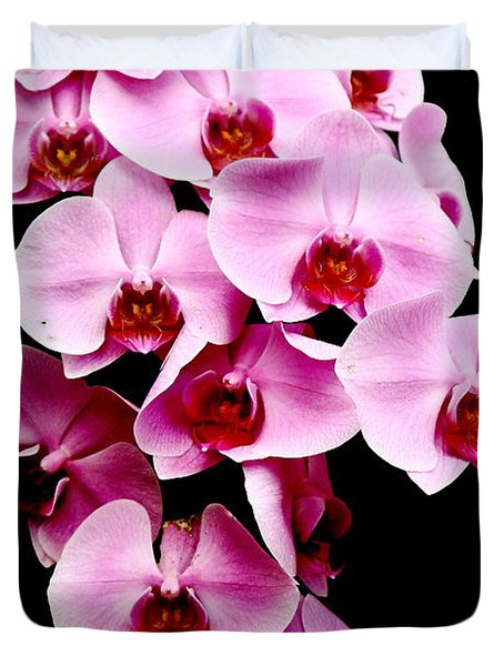 Pink Orchid Duvet Cover by Menachem Ganon