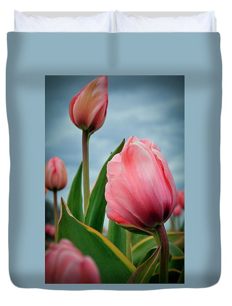 Pink Passion Duvet Cover by Athena Mckinzie