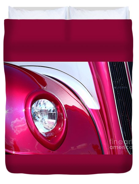 Duvet Cover featuring the photograph Pink Passion by Linda Bianic