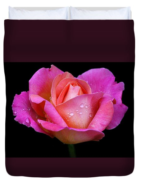 Duvet Cover featuring the photograph Pink Pearl by Doug Norkum