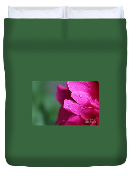 Duvet Cover featuring the photograph Pink Peony  by Ann E Robson