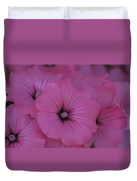 Pink Petunia Duvet Cover