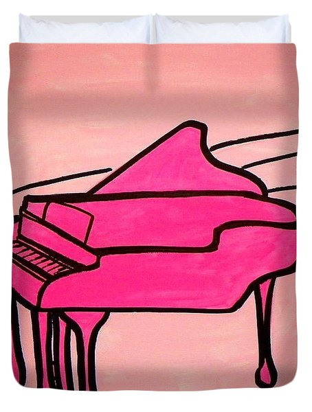 Pink Piano Duvet Cover