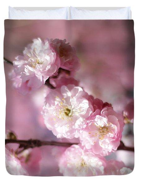 Pink Plum Branch 1 Duvet Cover
