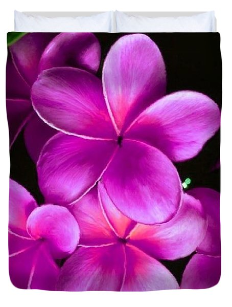 Pink Plumeria Duvet Cover by Bruce Nutting