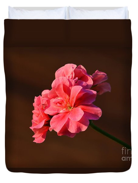 Duvet Cover featuring the photograph Pink by Ramona Matei