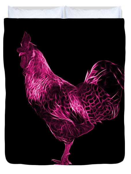 Pink Rooster 3186 F Duvet Cover by James Ahn