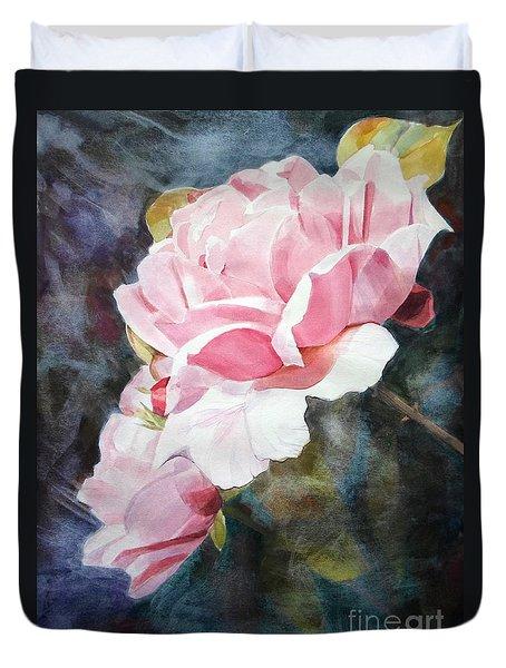 Pink Rose Caroline Duvet Cover by Greta Corens