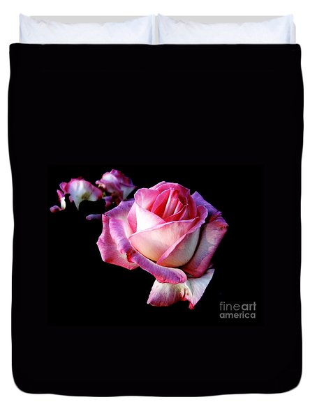 Pink Rose  Duvet Cover by Leanne Seymour