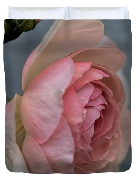 Duvet Cover featuring the photograph Pink Rose by Leif Sohlman
