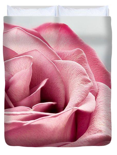 Pink Rose Macro Duvet Cover