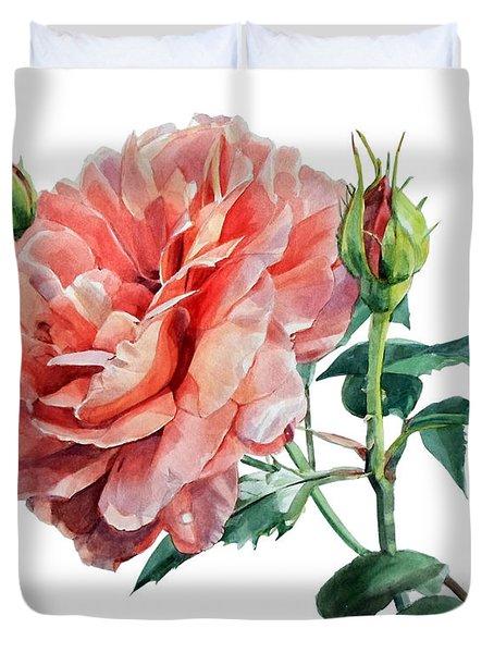 Pink Rose Odette  Duvet Cover