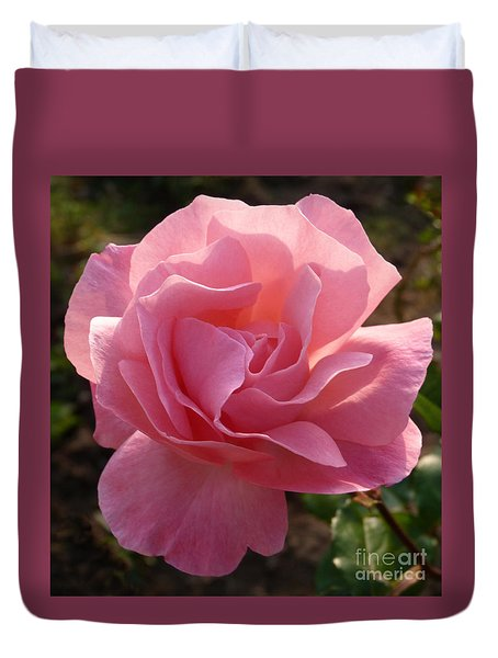 Duvet Cover featuring the photograph Pink Rose by Phil Banks