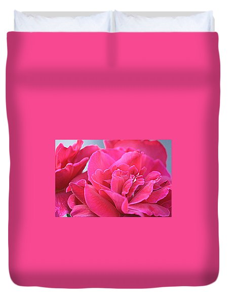 Pink Roses Duvet Cover by Donna G Smith