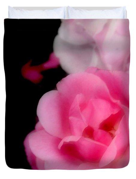 Pink Roses Duvet Cover by Kathleen Struckle