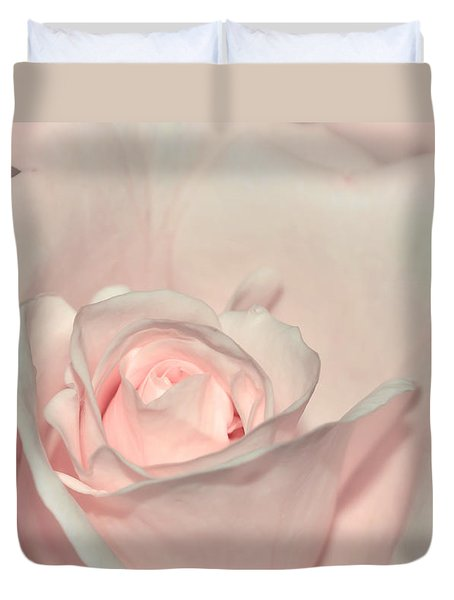 Pink Satin Duvet Cover by Kaye Menner
