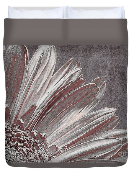 Pink Silver Duvet Cover by Lois Bryan